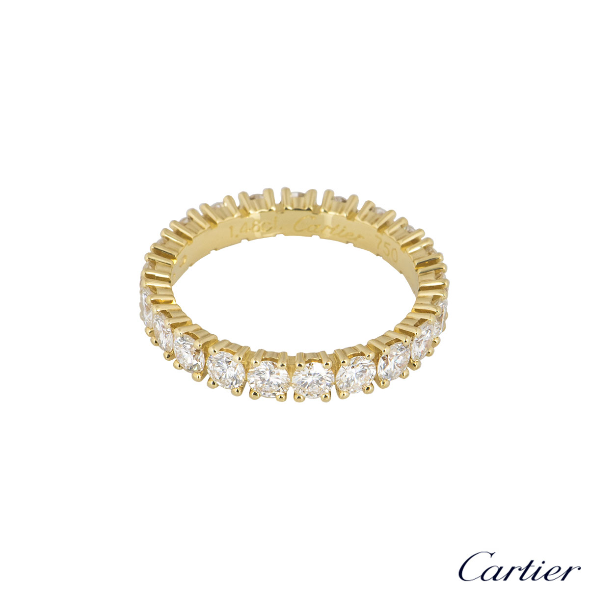 Cartier Yellow Gold Diamond Etincelle De Cartier Ring